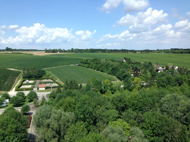 Beautiful Views Over Wine Country From Parc Nigloland, France