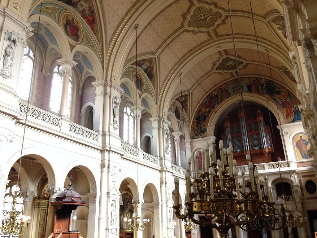 The Crisp, Clean and Beautifully Decorated Interior of l'Église de la Sainte-Trinité in Paris, France