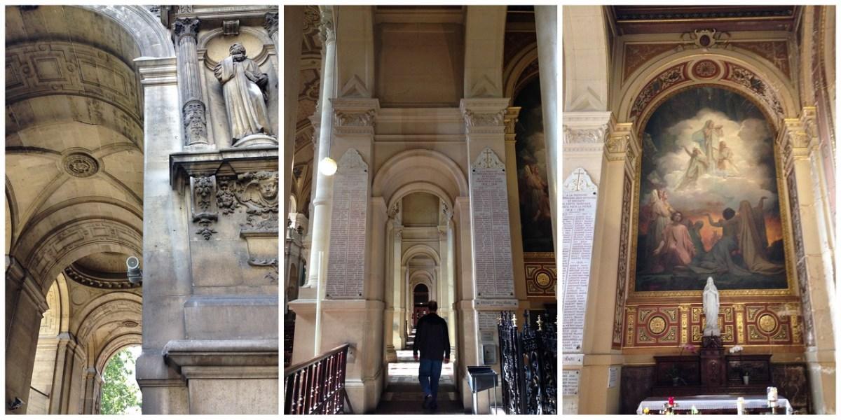 Beautiful Columns, Domes and Frescoes Inside l'Église de la Sainte-Trinité in Paris, France