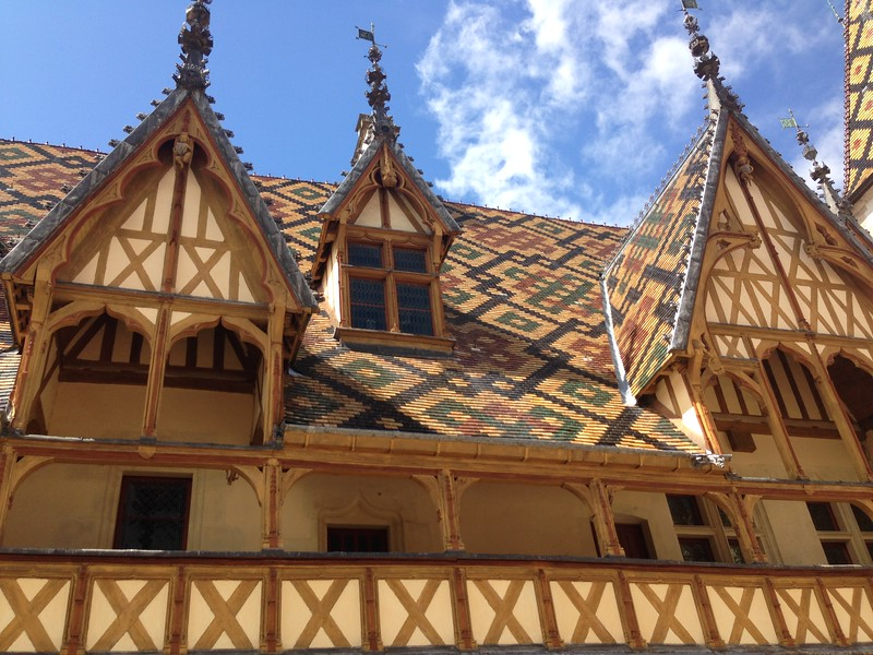 The Brightly Colored Roof of the Beaune Hospital in Beaune, France