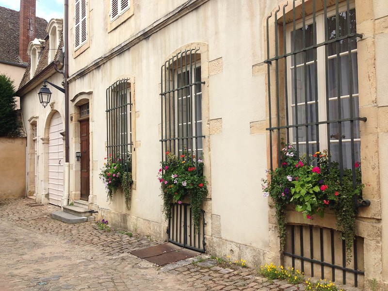 A Charming Little Street in the French City of Beaune