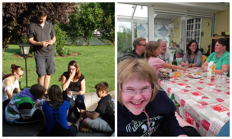 Playing Uno and Visiting With Family in Chaumont