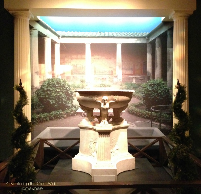 Replica Marble Fountain as it Would Have Appeared in a Pompeiian Home