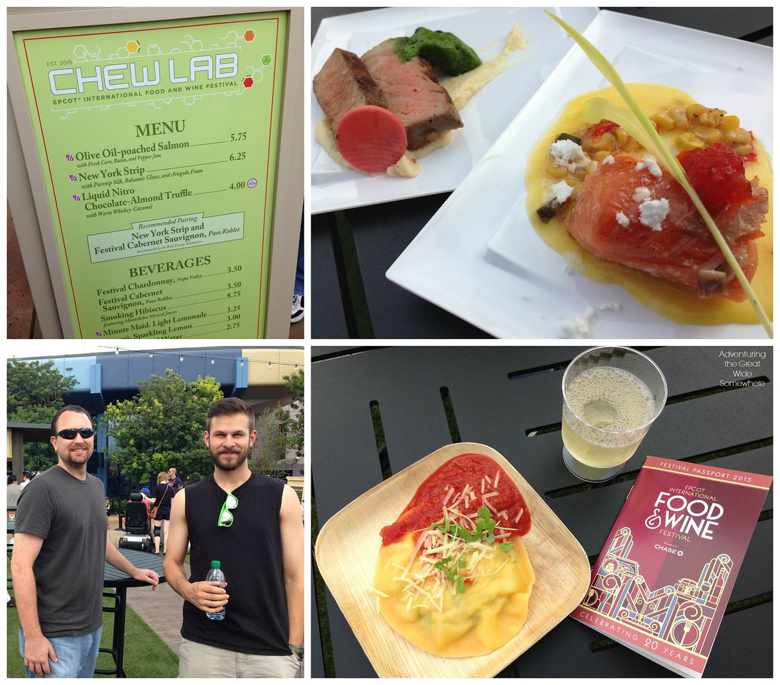 Food Items at the Chew Lab Outdoor Kitchen at the 2015 Epcot International Food and Wine Festival