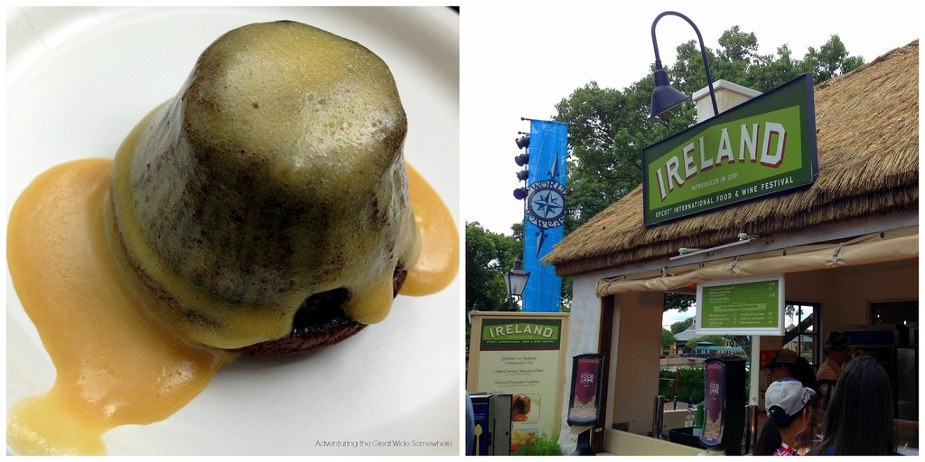 Warm Chocolate Pudding with Kerrygold Irish Cream Liqueur Custard from Ireland at the 2015 Epcot International Food and Wine Festival