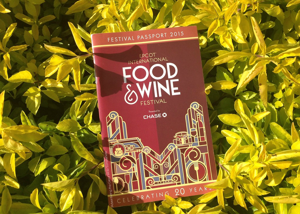 2015 Epcot International Food and Wine Festival Passport Book