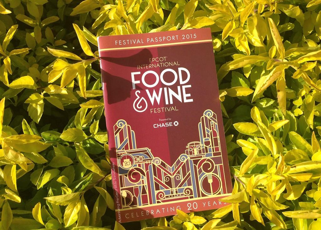 2015 Epcot International Food and Wine Festival Passport Book
