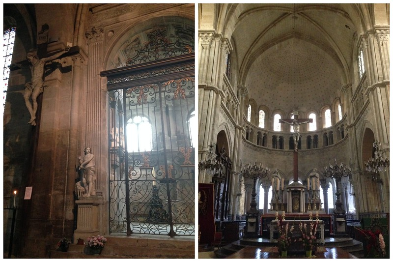 Beautiful Little Chapel, and the Center of the Cross at the Langres Cathedral in Langres, France