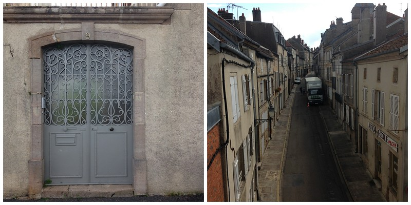 Pretty Gray Door and a Charming Little Alleyway in Langres, France