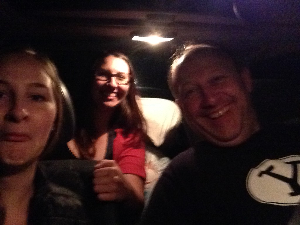 Jokey Photo of the Three of Us Stranded Roadside in Yakima, Washington