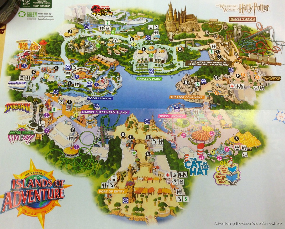 the orlando adventure begins  adventuring the great wide somewhere - islands of adventure park map