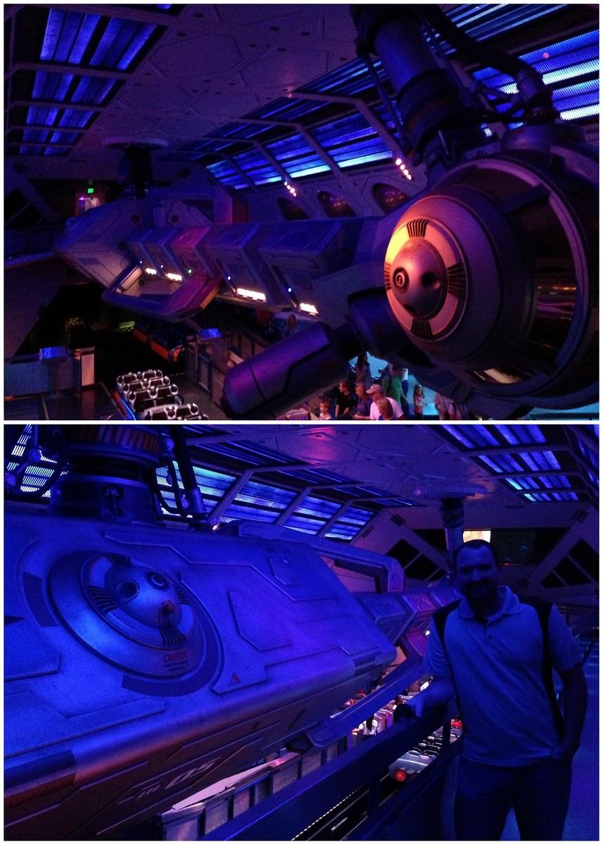 The Space Mountain Queue at Disneyland, California