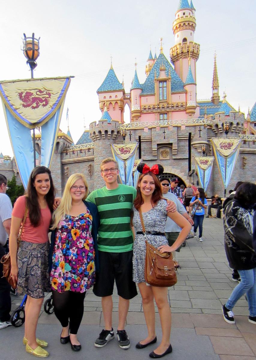 Visiting Sleeping Beauty Castle at Disneyland in 2012