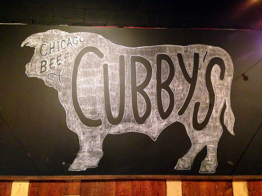 Chalk Logo at Cubby's Chicago Beef in Provo, Utah