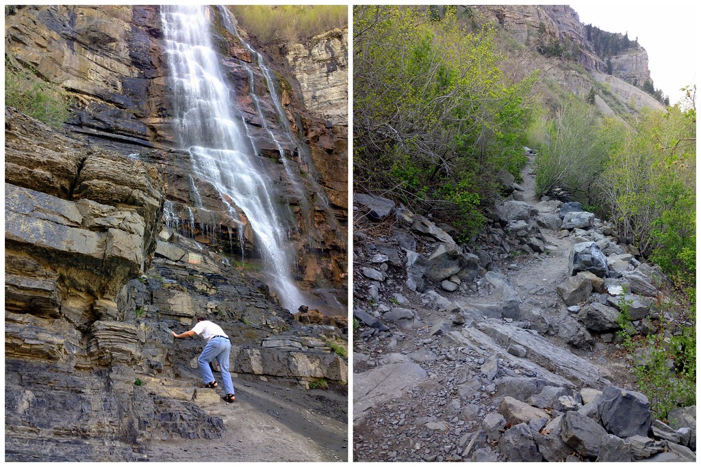 Navigating the Rocky Terrain of the Bridal Veil Falls Trail in Provo, Utah