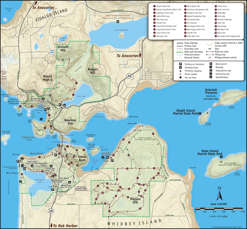 Deception Pass State Park Map from the Deception Pass Park Foundation