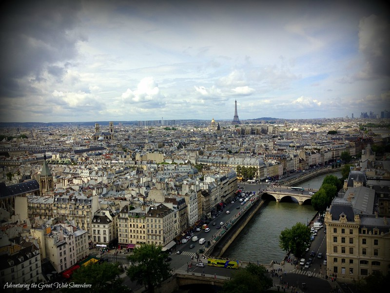 The Stunning View of the Eiffel Tower from Notre Dame