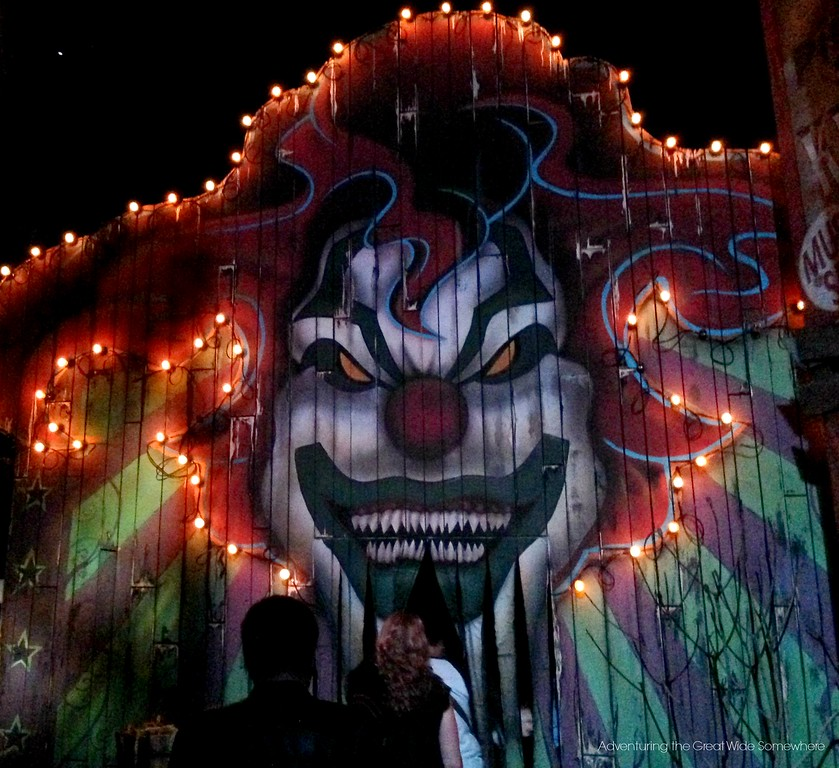 Monsters and Mayhem Haunted House Entrance at Halloween Horror Nights
