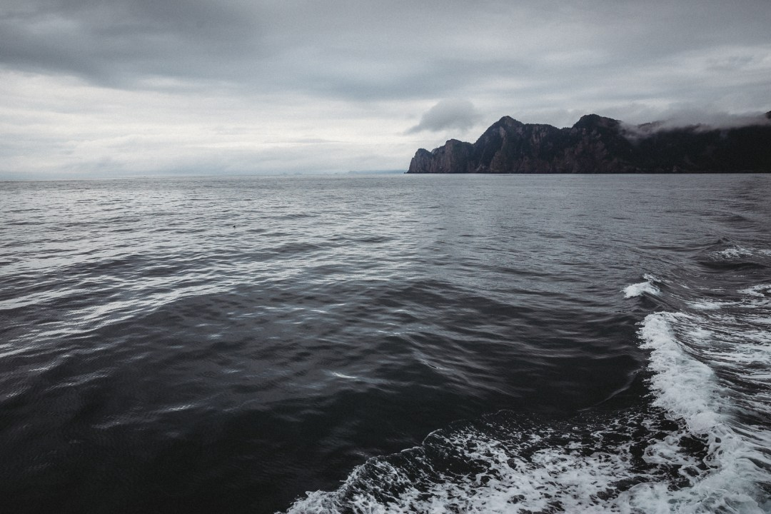 The waters of Resurrection bay during  a major marine tour of Kenai Fjords National Park out of seward, Alaska. Taken by Kimberly Kendall of Clicking with Kim