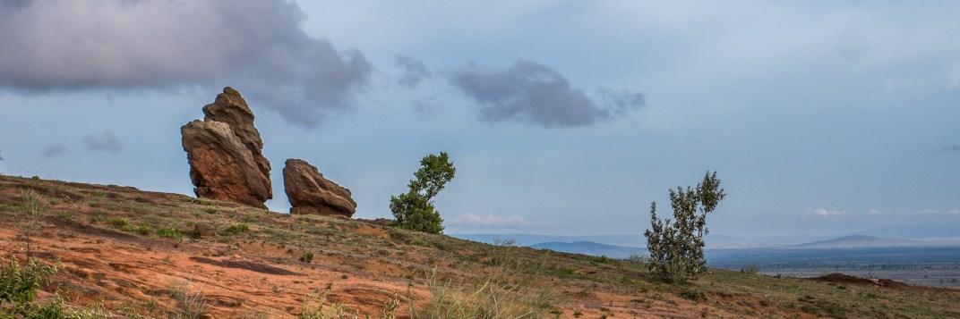 A rock outcropping near Maji Moto.