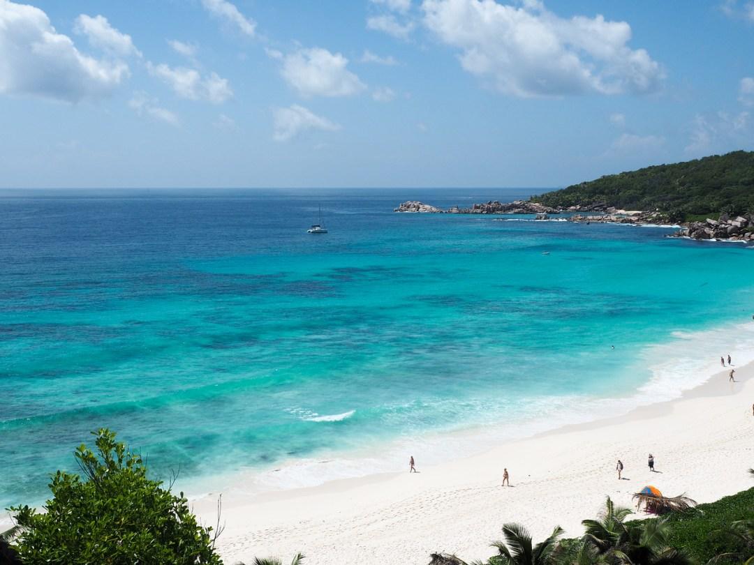 Grand Anse Beach in the Seychelles