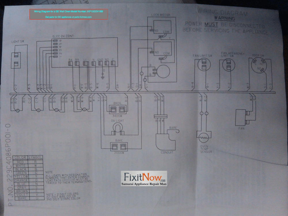 medium resolution of wiring diagram for a ge wall oven model number jkp13gov1bb