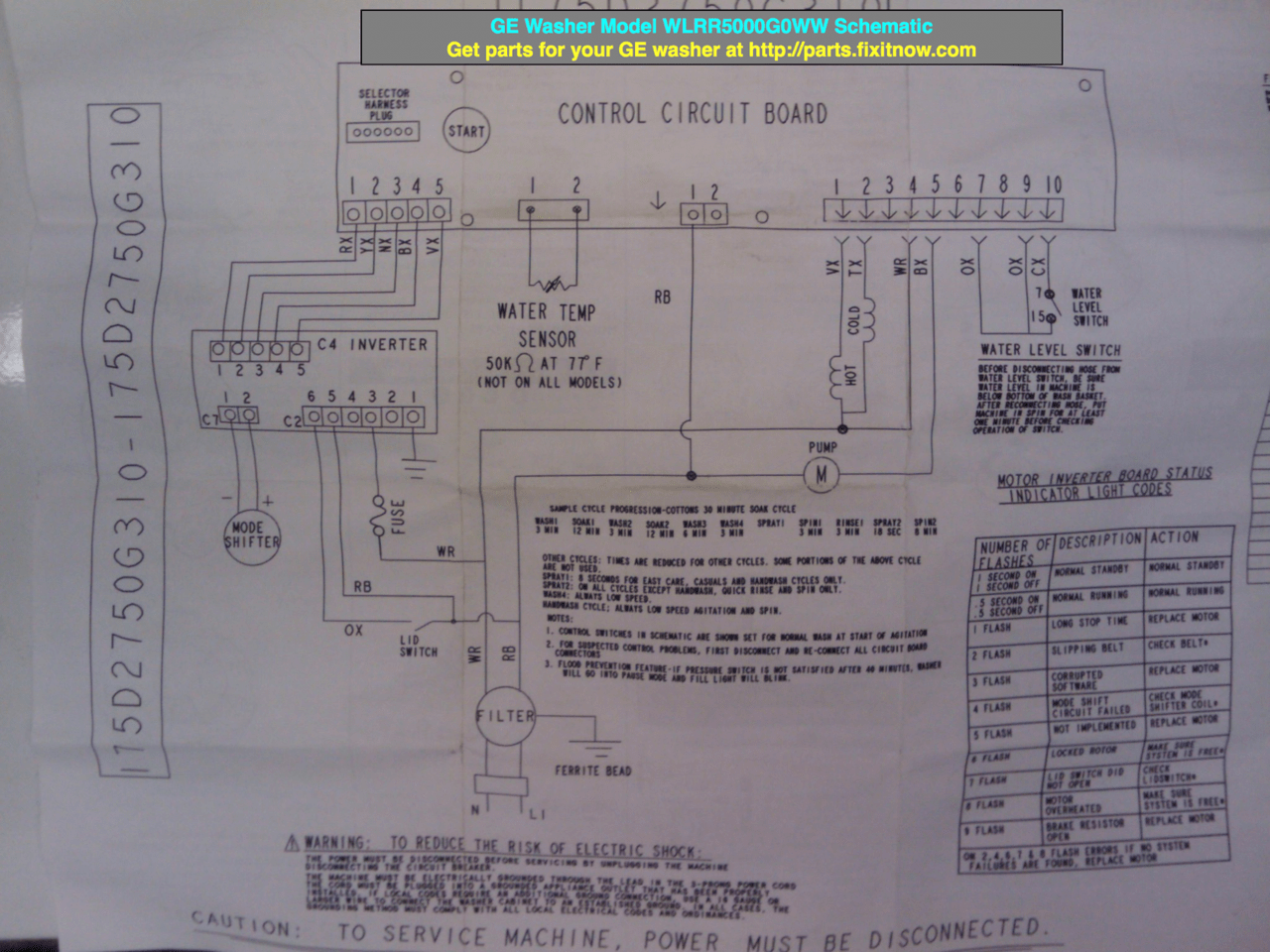 ge front load washer wiring diagram rv power library
