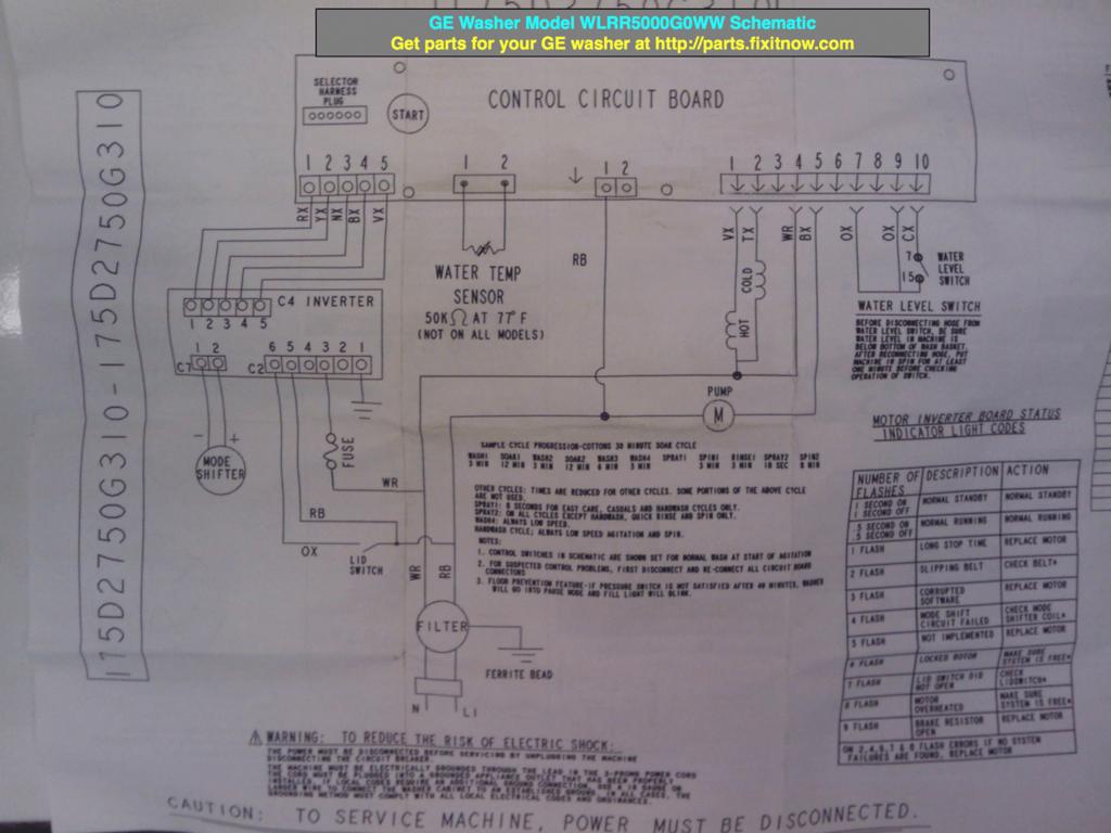hight resolution of ge washer schematic