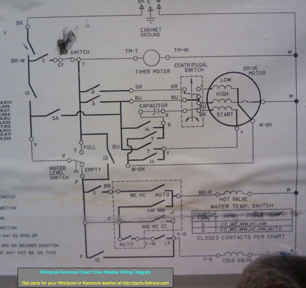 whirlpool front load washer wiring diagram star delta motor diagrams and schematics appliantology kenmore direct drive
