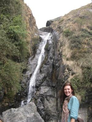 waterfall near mcleod ganj india