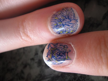 tiny, mini paintings on our fingers