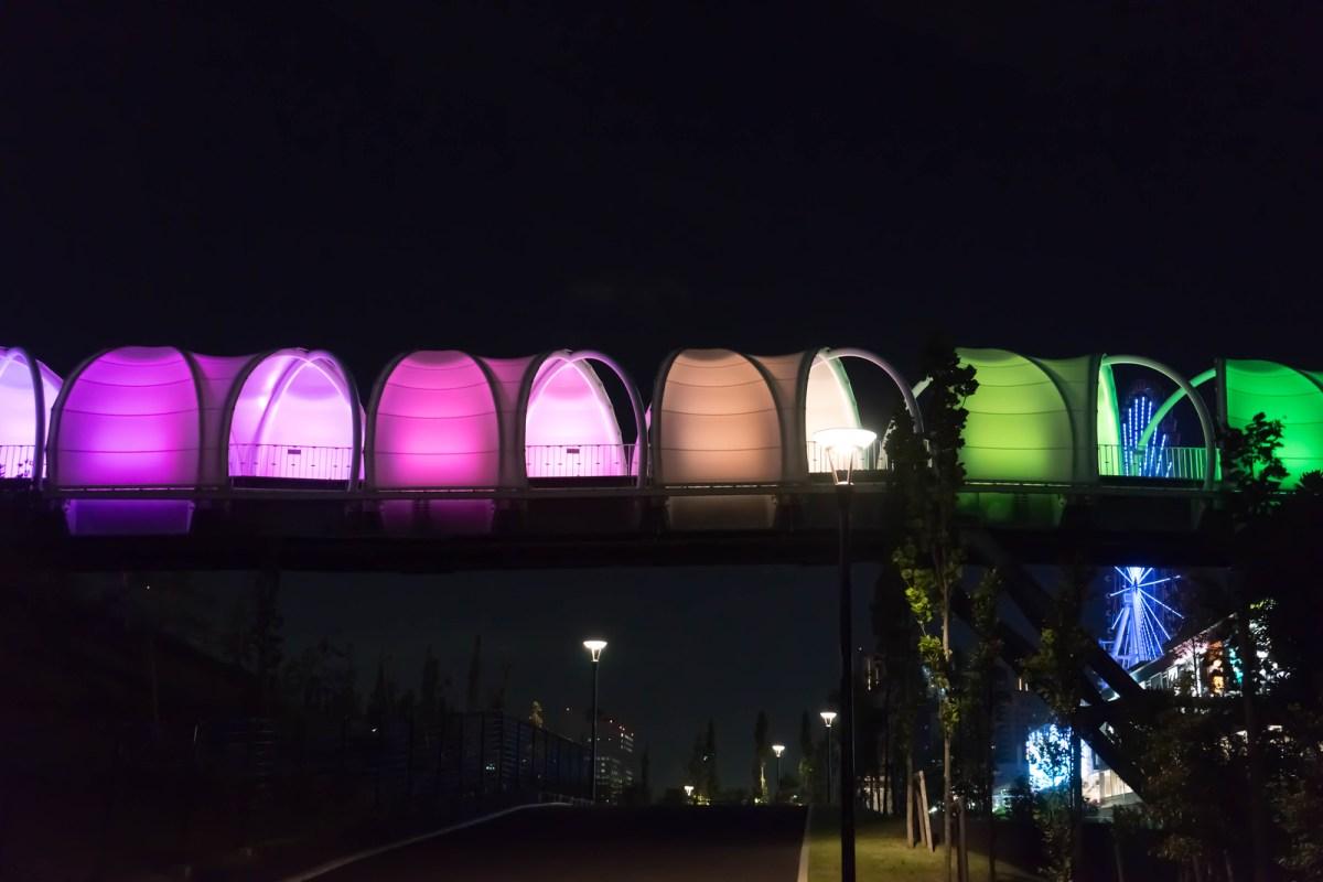 Colorful bridge in Odaiba, Tokyo