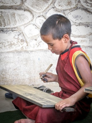 writing tibetan script