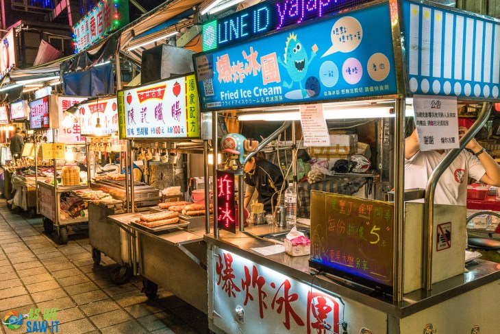 Food stalls in Shilin Night Market