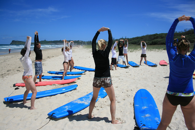 Two-day surf lessons byron bay