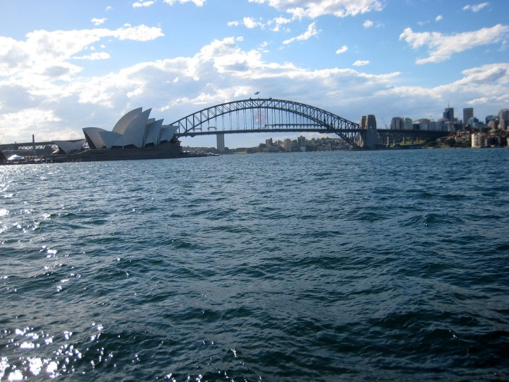Views of the Sydney Harbor from the ferry.