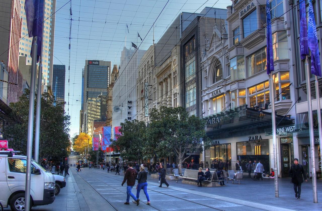 Bourke Street Mall in Melbourne, Australia