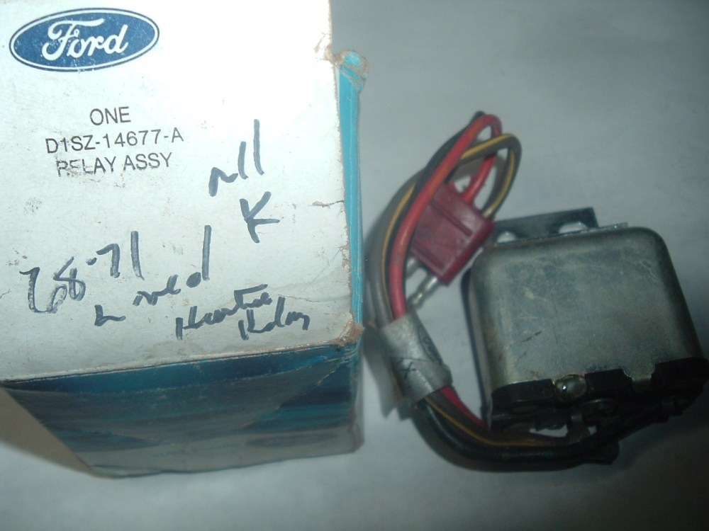 medium resolution of 1968 1969 1970 1971 lincoln heater relay d1sz 14677 a