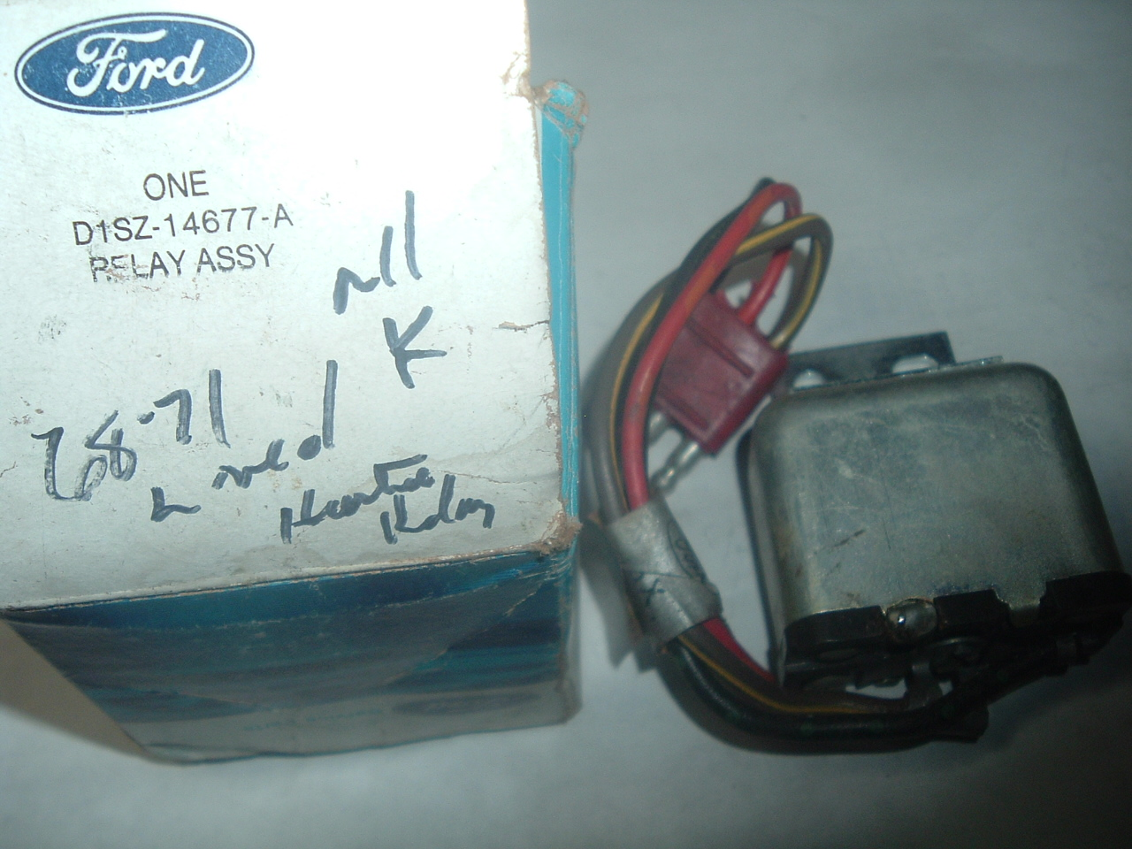 hight resolution of 1968 1969 1970 1971 lincoln heater relay d1sz 14677 a