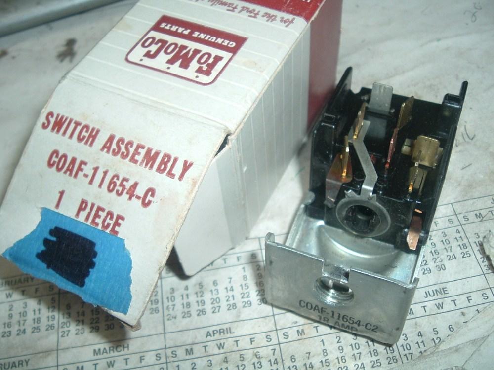 medium resolution of 1960 61 62 ford galaxie mercury headlight switch nos ford c0af 11654 c
