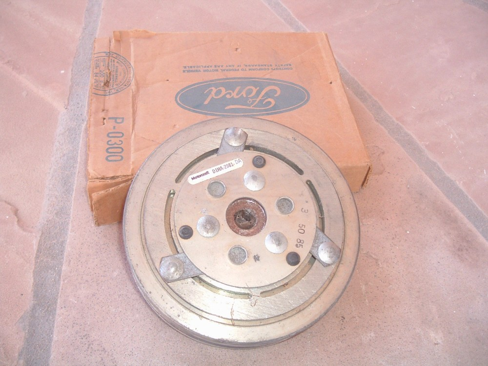 medium resolution of 1969 70 71 72 73 74 75 76 77 78 ford airconditioning compress clutch pulley nos