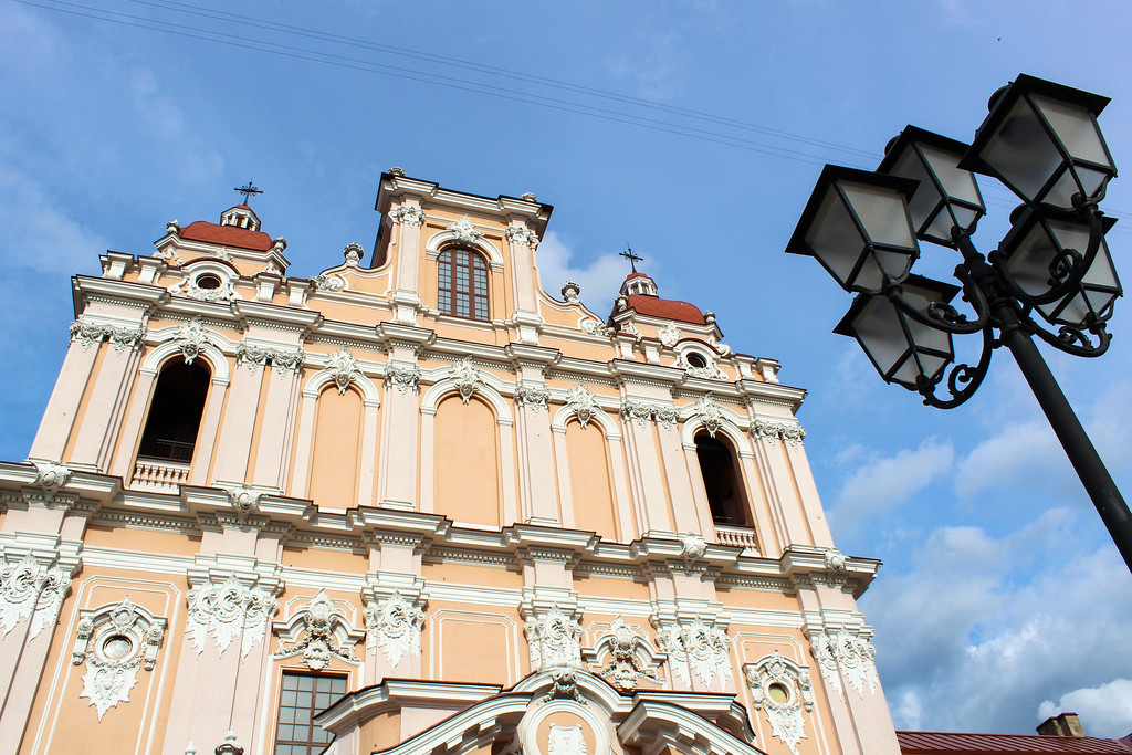 taking plenty of pictures while vilnius sightseeing