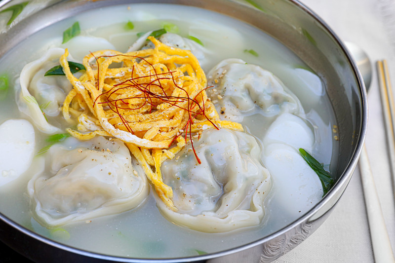 Mandu Guk Korean Dumpling Soup Recipe & Video