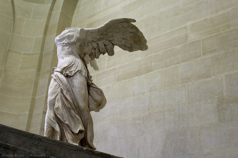 Left Side View of Winged Victory of Samothrace, the Most Powerful Statue at the Louvre