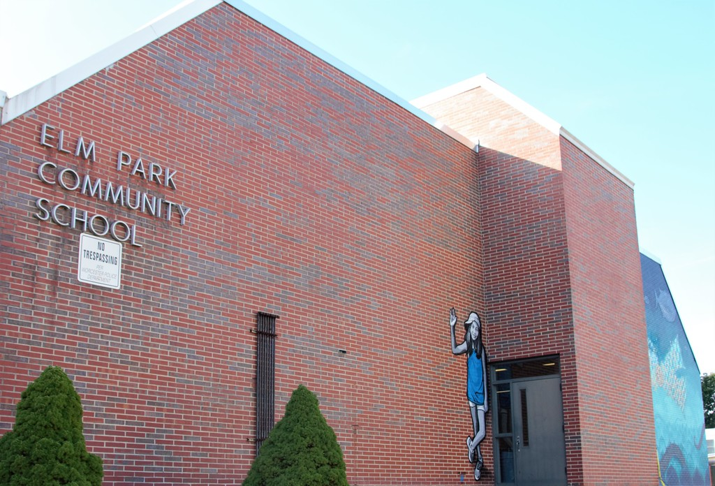 Elm Park Community school at POW!Wow! Worcester, MA