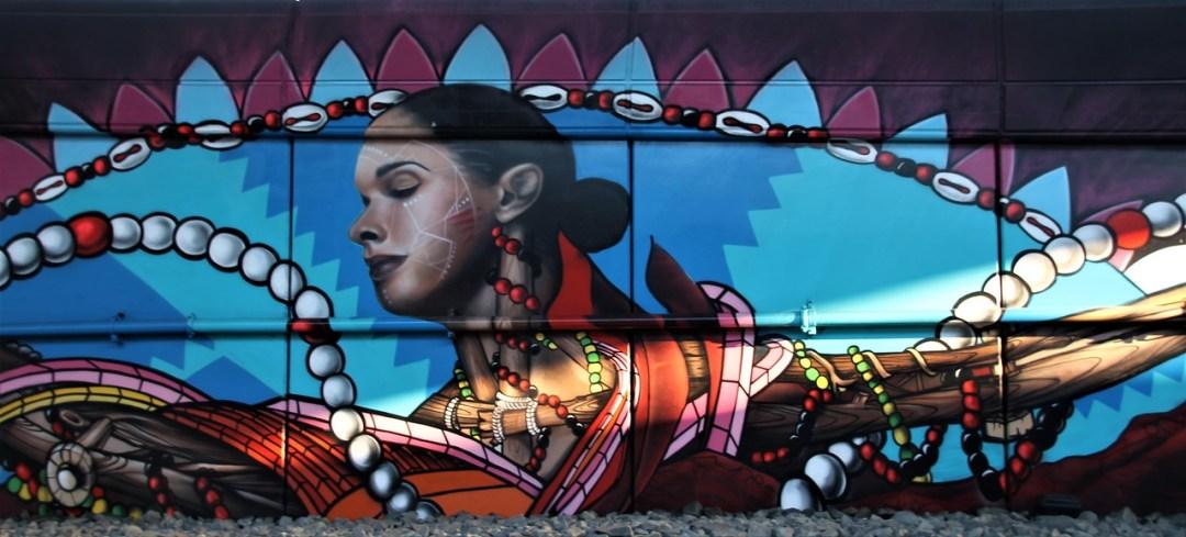 Street art mural in Boston, MA