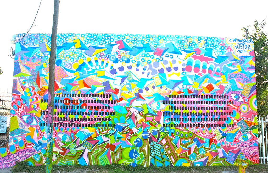Abstract mural Location Wynwood Miami