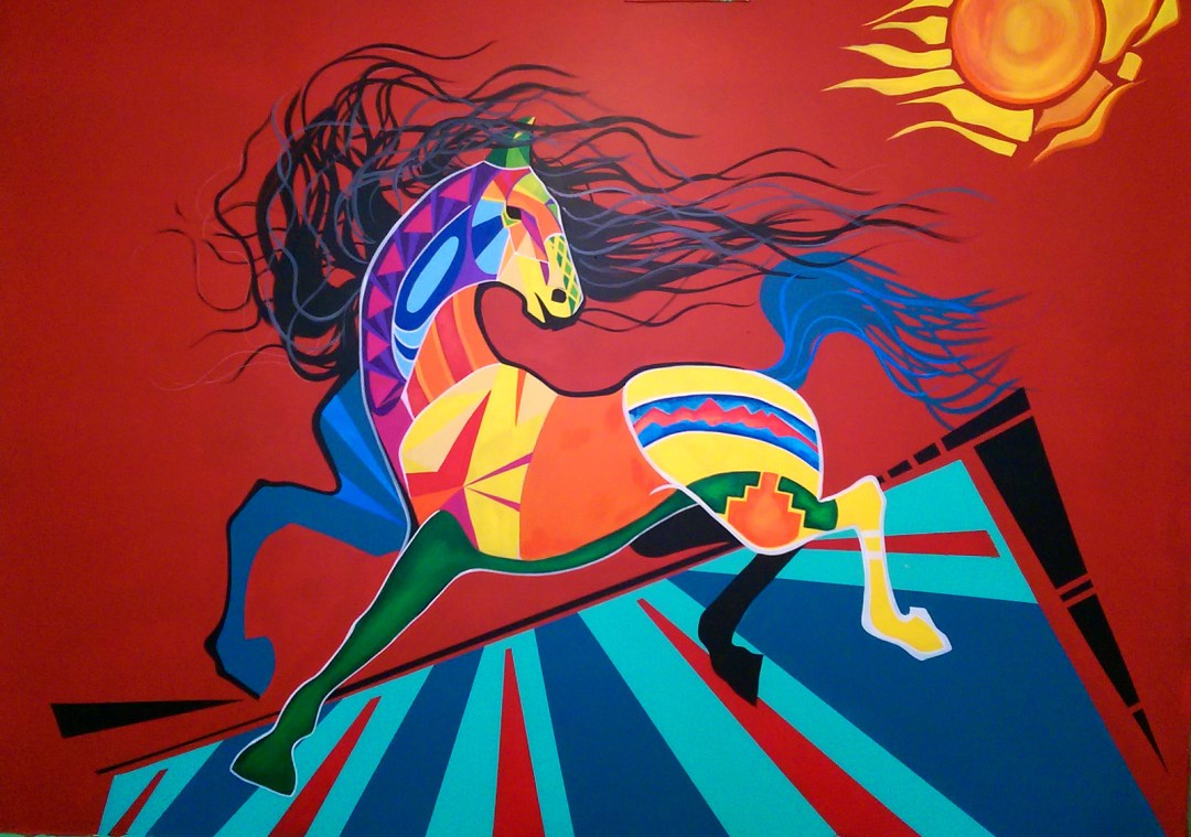 beautiful mural of a horse by Bella Luna
