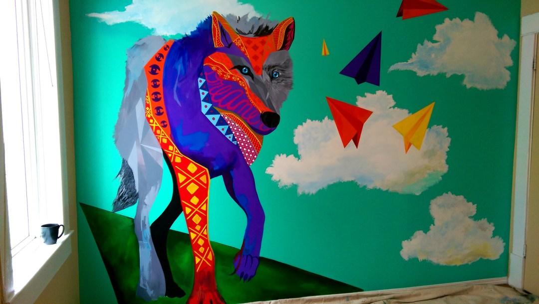 wolf mural - Bella Luna