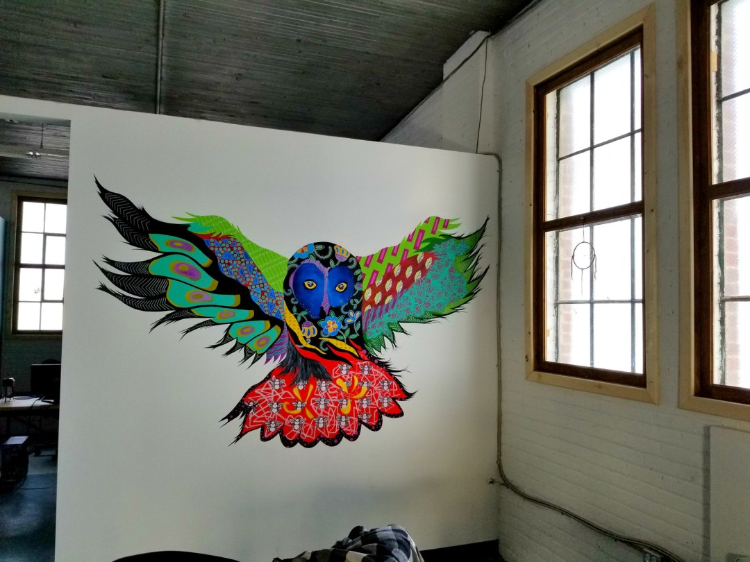 outstretched bird mural - Bella Luna